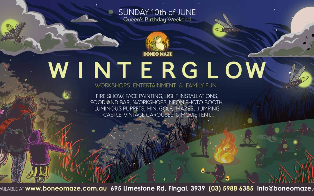 WinterGlow   Sunday 10th June Queens Birthday Weekend